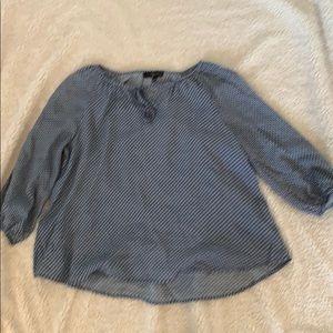 A polkadot blouse